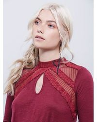 Free People | Purple New Romantics Ruby Jane Tee | Lyst