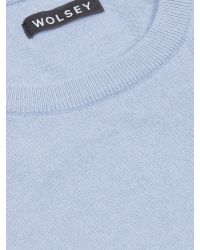 Wolsey | Blue Crew Neck Pull Over Jumper for Men | Lyst