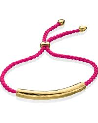 Monica Vinader | Metallic Esencia 18Ct Gold-Plated Friendship Bracelet - For Women | Lyst