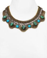DANNIJO - Blue Oceana Bib Necklace 16 - Lyst