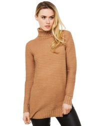 Akira Black Label | Natural The Outcome Ribbed Sweater - Camel | Lyst