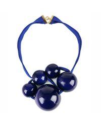 Marion Vidal - Klein Blue Ribbon Necklace - Lyst