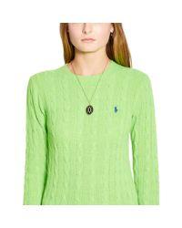 Polo Ralph Lauren - Green Wool Blend Crewneck Sweater - Lyst