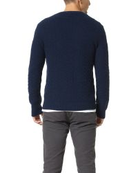 Gant Rugger | Blue The Basket Weave Sweater for Men | Lyst