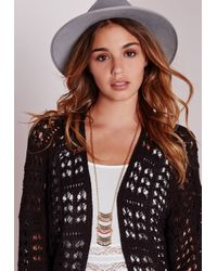 Missguided - Metallic Tiered Beaded Longline Necklace - Lyst