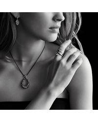 David Yurman | Blue Midnight Mélange Large Drop Pendant Necklace With Diamonds | Lyst