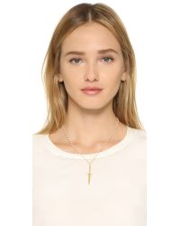 Pamela Love - Metallic Dagger Pendant Necklace - Lyst