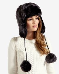 Ted Baker - Gray Faux Fur Trapper Hat - Lyst