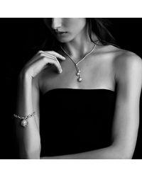 David Yurman - Metallic Charm Bracelet With Diamonds - Lyst