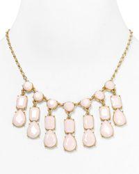 kate spade new york - Pink Riviera Garden Mini Bib Necklace  - Lyst