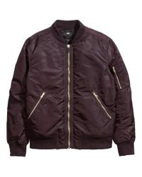 H&M - Purple Bomber Jacket for Men - Lyst
