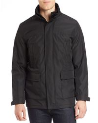 Calvin Klein | Black Convertible Hooded Jacket for Men | Lyst