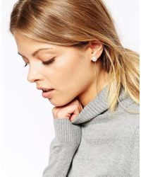 ASOS - Metallic Faux Pearl Sticks Earrings - Lyst