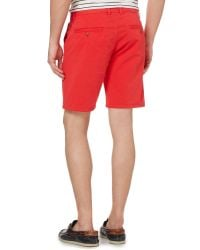 GANT | Red Cotton Shorts for Men | Lyst