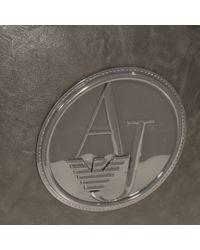 Armani Jeans | Gray Handbag Bugatti Ecoleather Logo Patent | Lyst