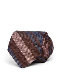 Eidos | Brown Striped Classic Tie for Men | Lyst