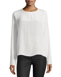 Nicole Miller - White Syracuse Solid Enzyme Top - Lyst