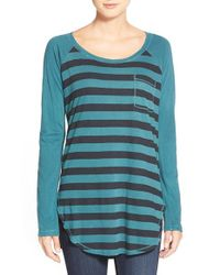 Splendid | Blue Rugby Stripe Long Sleeve Tee | Lyst