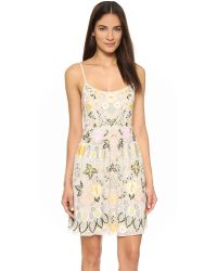Needle & Thread | Yellow Embroidered Chiffon Prom Dress | Lyst