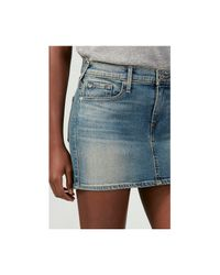 True Religion | Blue Alexia Mini Skirt | Lyst