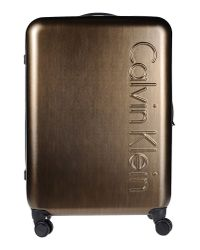 Calvin Klein | Metallic Wheeled Luggage | Lyst
