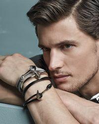 Miansai - Gray Anchor Leather Bracelet - Lyst