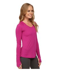 The North Face - Purple Long Sleeve Zinnia Top - Lyst
