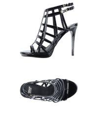 Versace Jeans   Black Sandals   Lyst