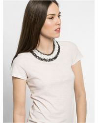 BaubleBar | Black Triple Chain Collar | Lyst