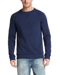 BOSS Orange - Blue Fashion-fit Cotton Sweatshirt 'wheel' for Men - Lyst