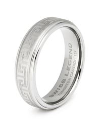 Swiss Legend - Gray Men's Tungsten Carbide Ring - Lyst