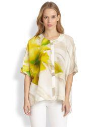 Lafayette 148 New York - Natural Jordanna Silk Blouse - Lyst