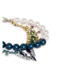 Joomi Lim - Blue Crystal Bead Double Strand Bracelet - Lyst