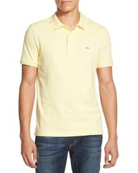 Lacoste | Yellow Stretch Pique Polo for Men | Lyst