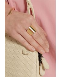 Jennifer Fisher - Metallic Cigar Band Goldplated Brass Ring - Lyst