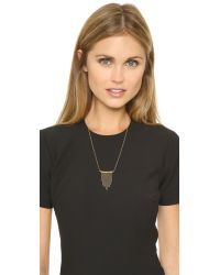 Vanessa Mooney - Metallic The Zz Necklace - Gold - Lyst