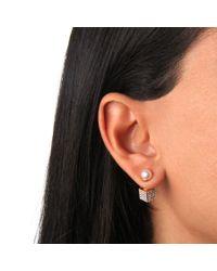 Vita Fede - Metallic Double Cubo Pearl Earrings In Yellow Gold - Lyst