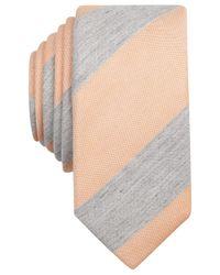 Original Penguin | Orange Fillmore Stripe Skinny Tie for Men | Lyst