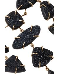 Melissa Joy Manning - Black Sterling Silver, 14-Karat Gold And Druzy Necklace - Lyst