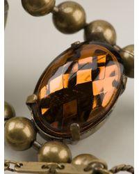 Jean Paul Gaultier - Metallic Embellished Necklace - Lyst
