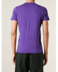 DSquared² - Purple Printed T-Shirt for Men - Lyst