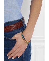 Aurelie Bidermann - Blue Gold-Plated And Cotton Bracelet - Lyst