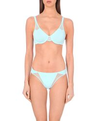 Wacoal | Blue Body Underwired Mesh Bra | Lyst