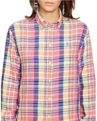 Polo Ralph Lauren | Pink Relaxed-fit Cotton Plaid Shirt | Lyst