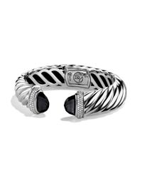 David Yurman - Metallic Waverly Bracelet With Black Onyx And Diamonds - Lyst