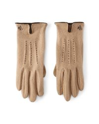 Ralph Lauren | Brown Vented Wool-blend Touch Gloves | Lyst