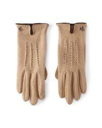 Ralph Lauren | Natural Vented Wool-blend Touch Gloves | Lyst