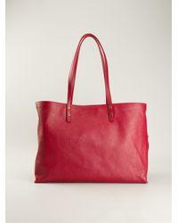 Chloé - Red 'Dilan' Shopper Tote - Lyst
