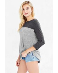 Truly Madly Deeply | Gray Emily Football Tee | Lyst