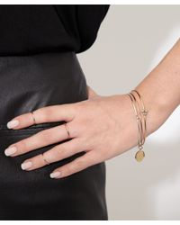 Annina Vogel - Metallic Gold Hand Cuff Charm Bangle - Lyst